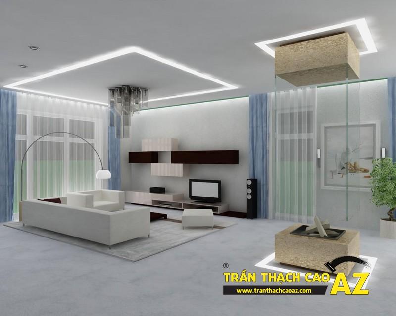 Mẫu 6 - Trần thạch cao phòng khách đẹp hiện đại