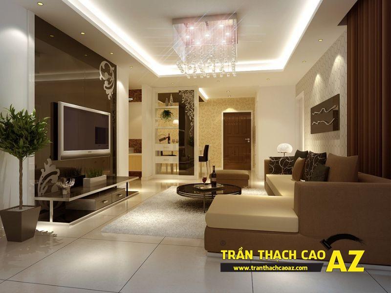 Mẫu 11 - Trần thạch cao phòng khách đẹp hiện đại