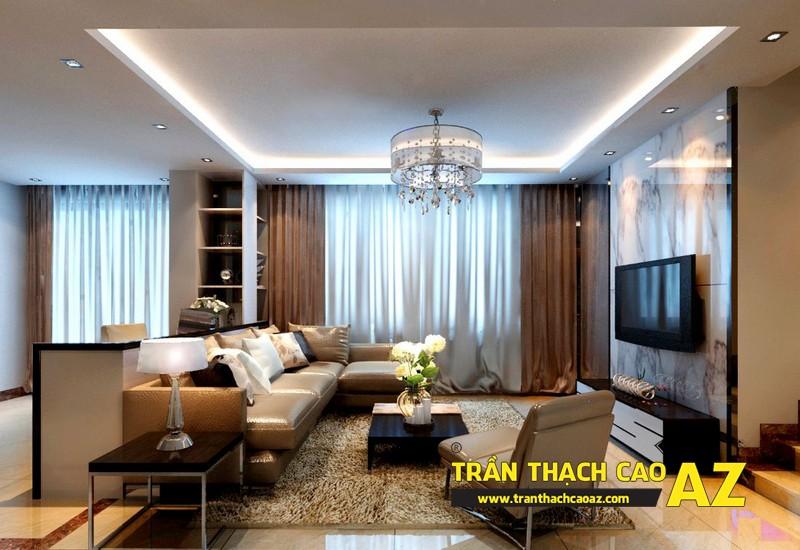 Mẫu 4 - Trần thạch cao phòng khách đẹp hiện đại