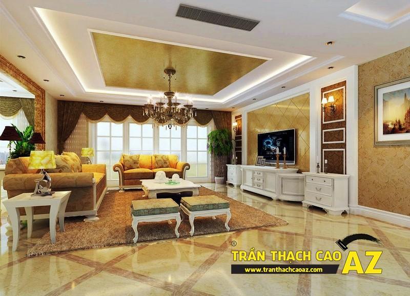 Mẫu 3 - Trần thạch cao phòng khách đẹp tân cổ điển