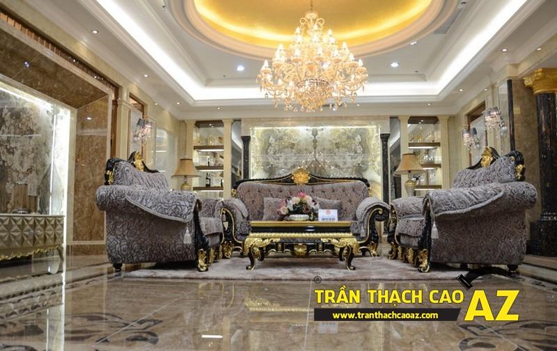 Mẫu 11 - Trần thạch cao phòng khách đẹp tân cổ điển
