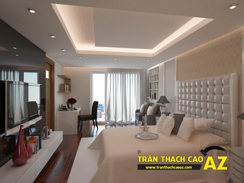 Mẫu trần thạch cao phòng ngủ nhà ống, nhà phố - 03