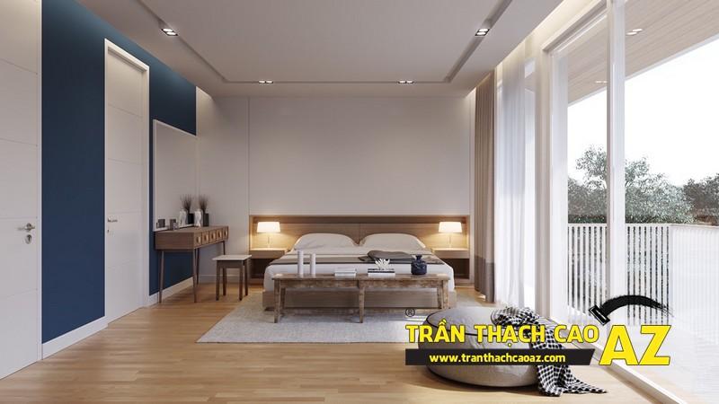 Mẫu trần thạch cao phòng ngủ nhà liền kề- 02