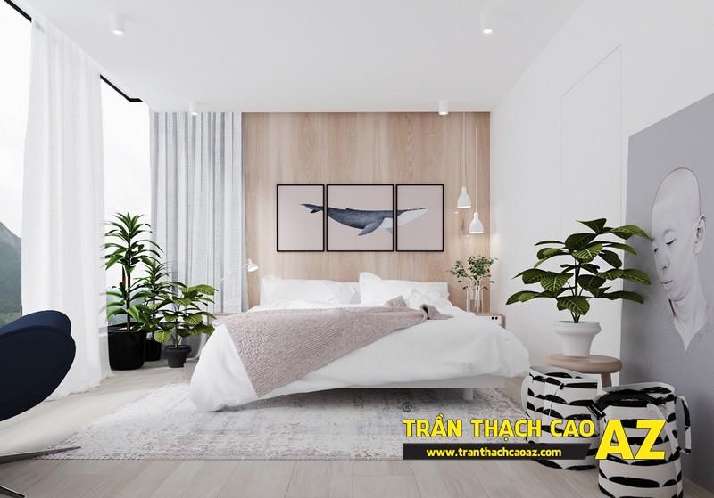 Mẫu trần thạch cao phòng ngủ nhà liền kề- 03