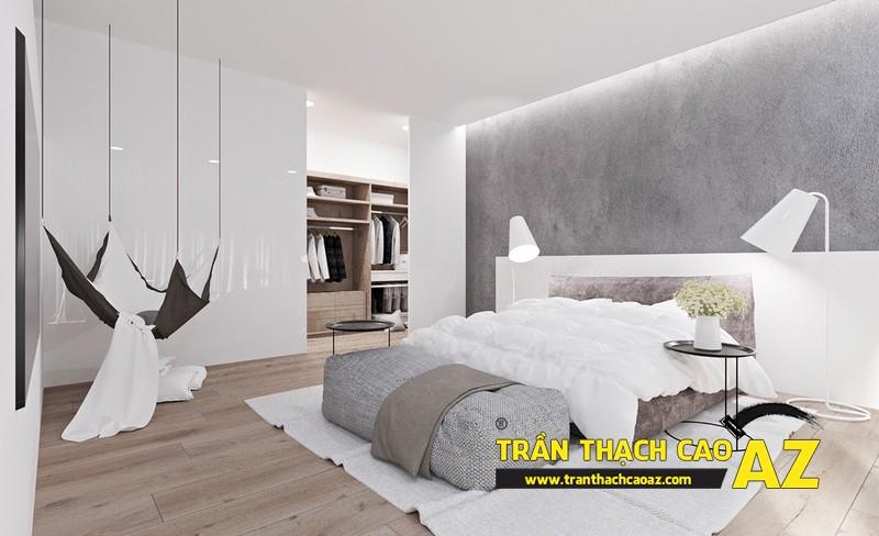 Mẫu trần thạch cao phòng ngủ nhà liền kề- 05
