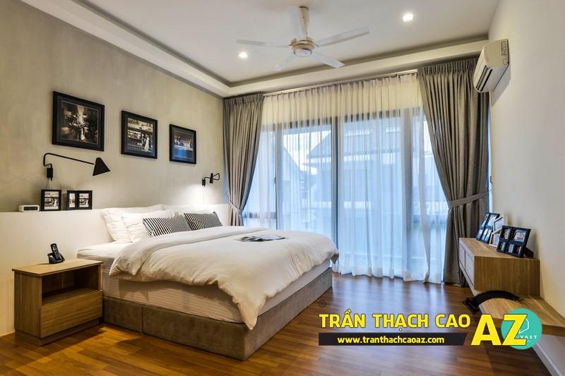 Mẫu trần thạch cao phòng ngủ nhà chung cư - 02