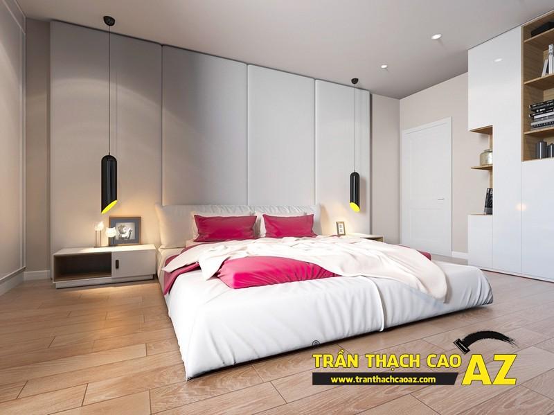 Mẫu trần thạch cao phòng ngủ nhà chung cư - 05