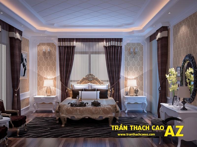 Mẫu trần thạch cao phòng ngủ nhà biệt thự - 03