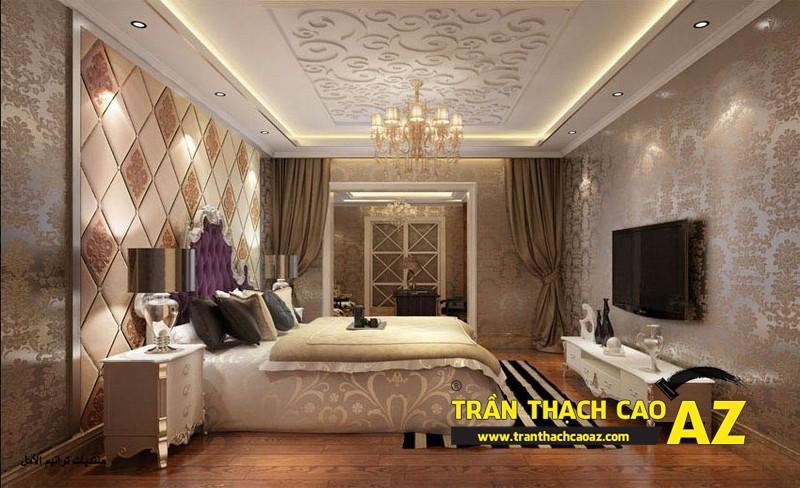 Mẫu trần thạch cao phòng ngủ nhà biệt thự - 05