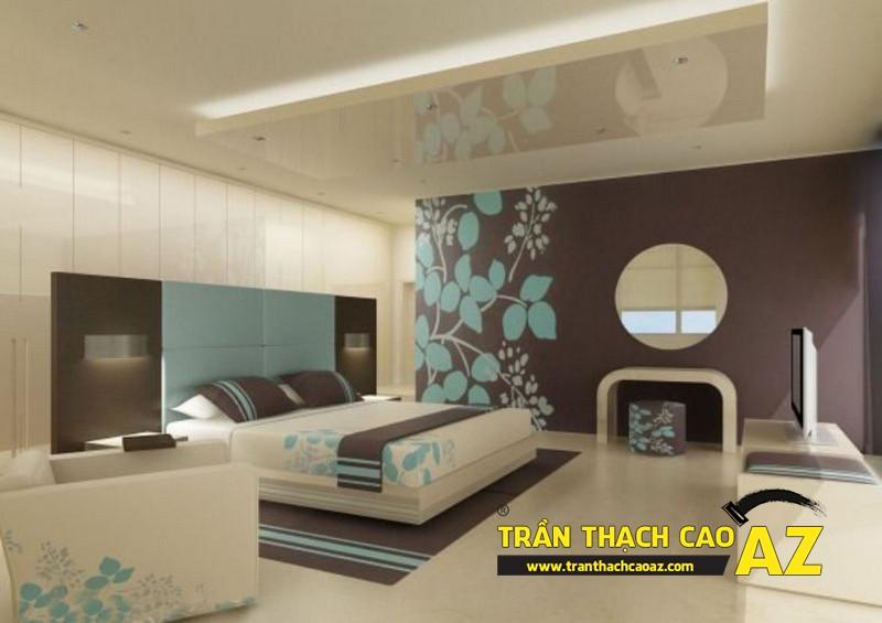 Mẫu trần thạch cao phòng ngủ nhà chung cư - 03