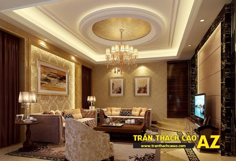 Xu hướng thiết kế sẽ thống lĩnh thị trường 2017 - mẫu trần thạch cao đẹp cổ điển - 03