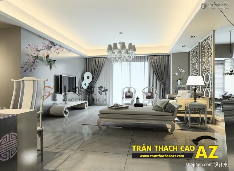 Xu hướng thiết kế sẽ thống lĩnh thị trường 2017 - mẫu trần thạch cao đẹp kết hợp hiện đại và cổ điển - 01