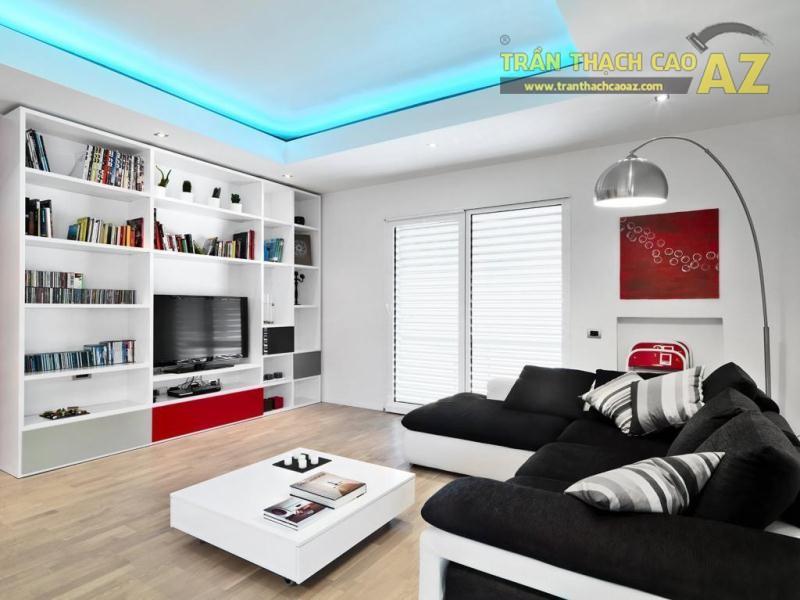 Mẹo thiết kế trần thạch cao phòng khách nhỏ - chọn màu sắc nhất quán 03