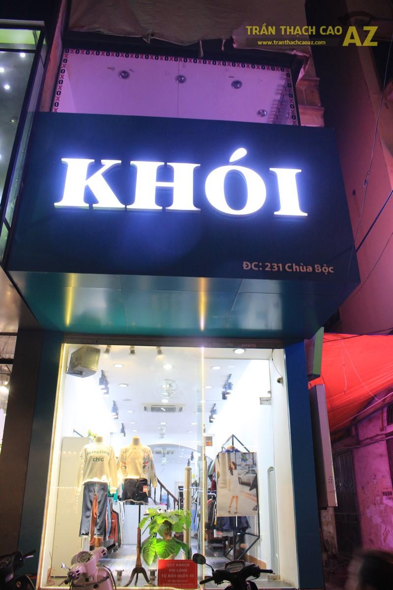 Ngắm thiết kế trần thạch cao cửa hàng thời trang Khói, 231 chùa Bộc 01