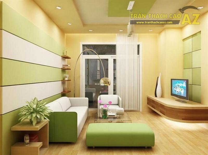 Nhận thiết kế, thi công trần thạch cao cho phòng khách nhỏ