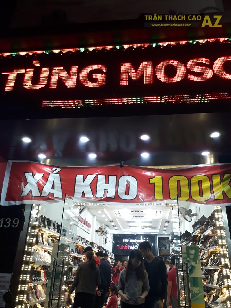 Shop giày Tùng Moscow hút khách nhờ thiết kế trần thạch cao đẹp ấn tượng - 05