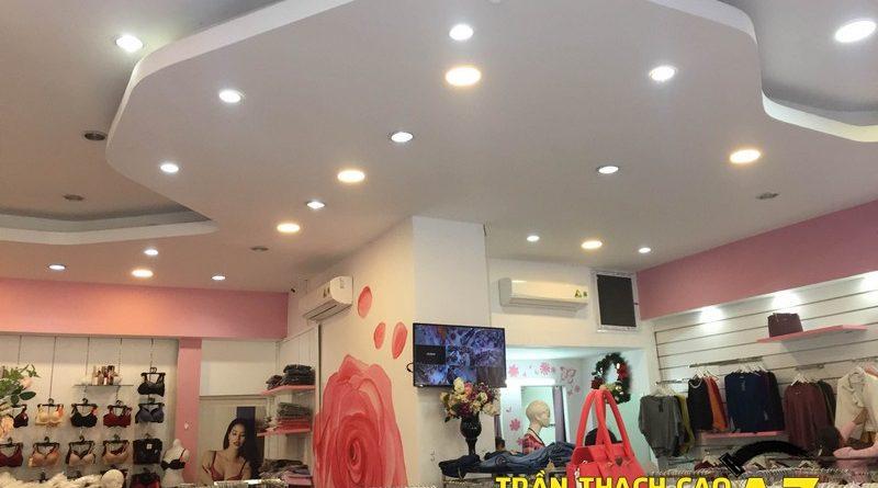 Shop Winny siêu đẹp, siêu hút khách với tạo hình trần thạch cao giật cấp tại Hà Nam