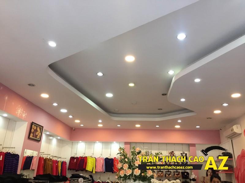 Shop Winny Hà Nam siêu đẹp, siêu hút khách với tạo hình trần thạch cao giật cấp 05