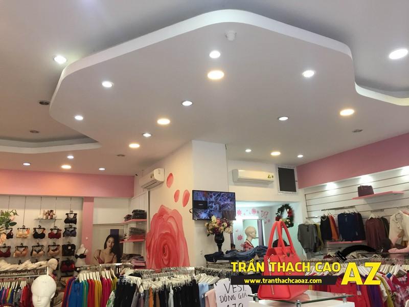 Shop Winny Hà Nam siêu đẹp, siêu hút khách với tạo hình trần thạch cao giật cấp 02