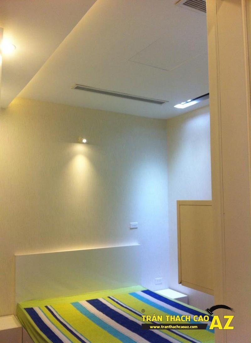 Cận cảnh thiết kế trần thạch cao phòng ngủ con trai chị Lan