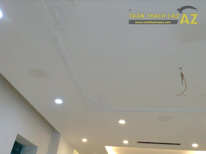 Thi công trần thạch cao nhà cho anh Chung, 36B, Vincom Village, Sài Đồng