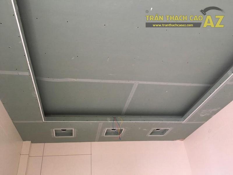 Thi công trần thạch cao cho nhà chị Tuyết tại Yên Viên, Gia Lâm, Hà Nội