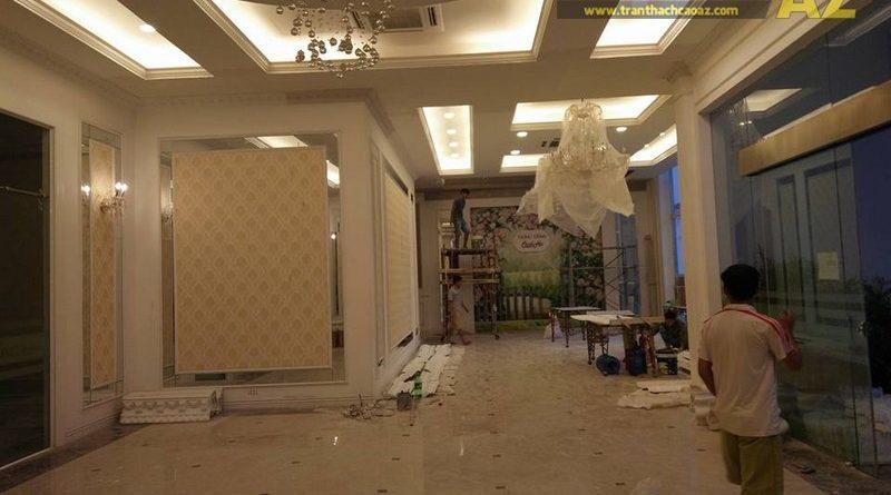 Thi công trần thạch cao cho tòa nhà Lotte Hà Nội