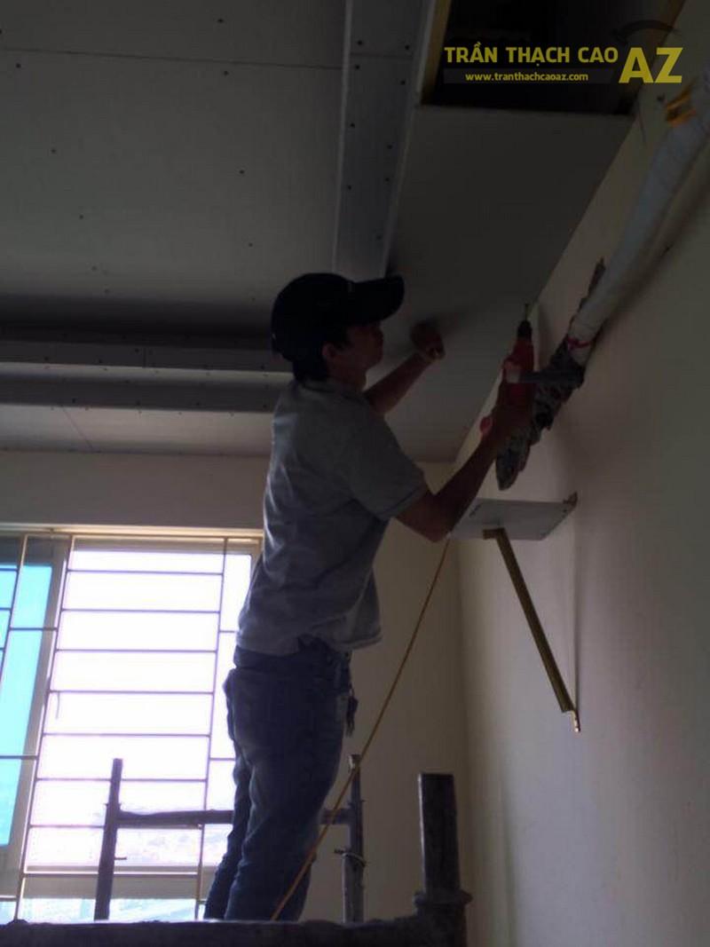 Thi công trần thạch cao chung cư HH1C Linh Đàm