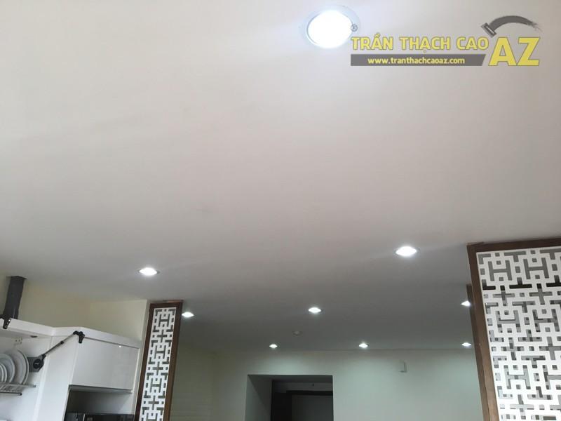 Thi công trần thạch cao nhà anh Minh tòa HH1, chung cư 102 Trường Chinh