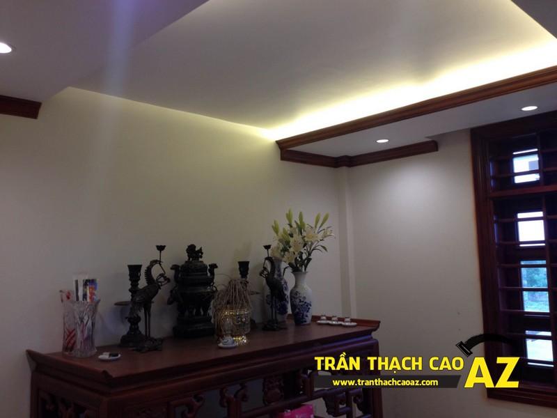 Thi công trần thạch cao nhà anh Thái tại Ba Đình, Hà Nội