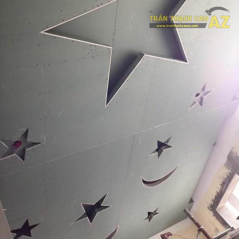 Thi công trần thạch cao phòng ngủ trẻ em cho nhà chị Bích, Thanh Xuân, Hà Nội