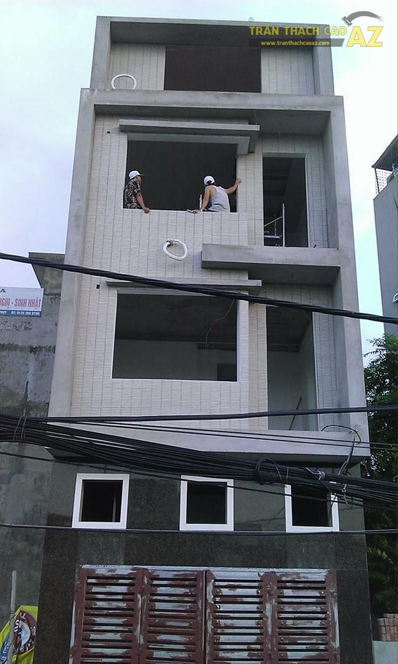 Thi công trần thạch cao nhà anh Tiến, Kim Chung, Hoài Đức, Hà Nội