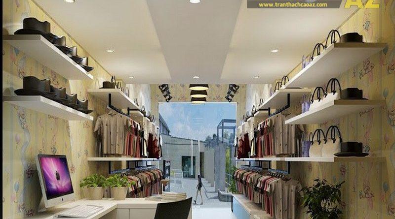 Thiết kế, thi công trần thạch cao cho cửa hàng nhỏ đẹp, giá rẻ
