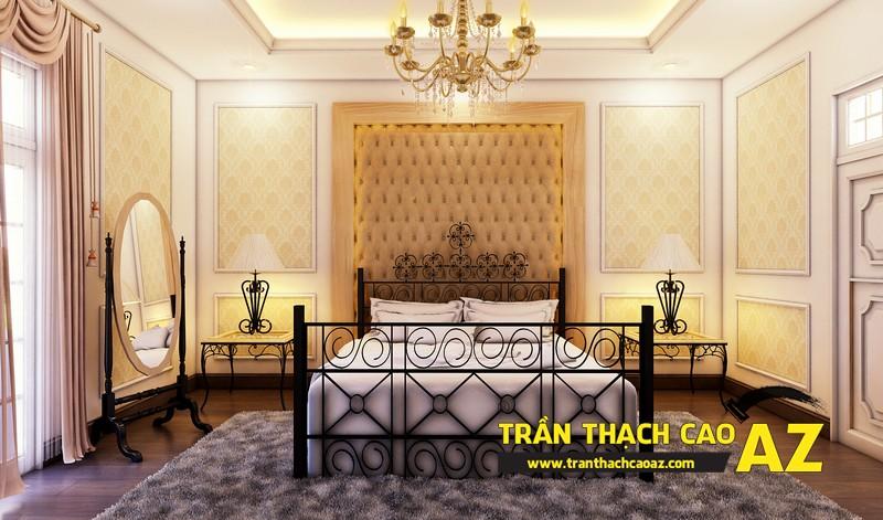 Phương án thiết kế trần thạch cao biệt thự dành cho phòng ngủ con gái của gia đình anh Tài 01