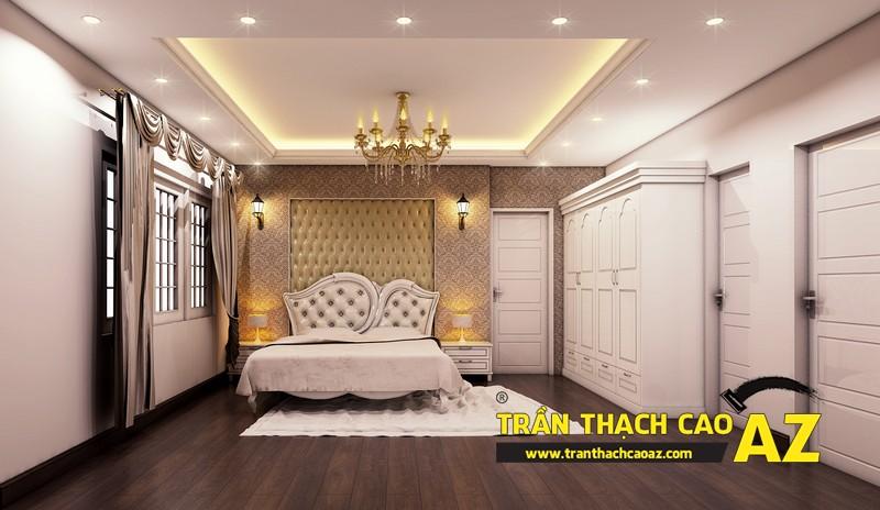 Phương án thiết kế trần thạch cao biệt thự dành cho phòng ngủ con trai của gia đình anh Tài 01