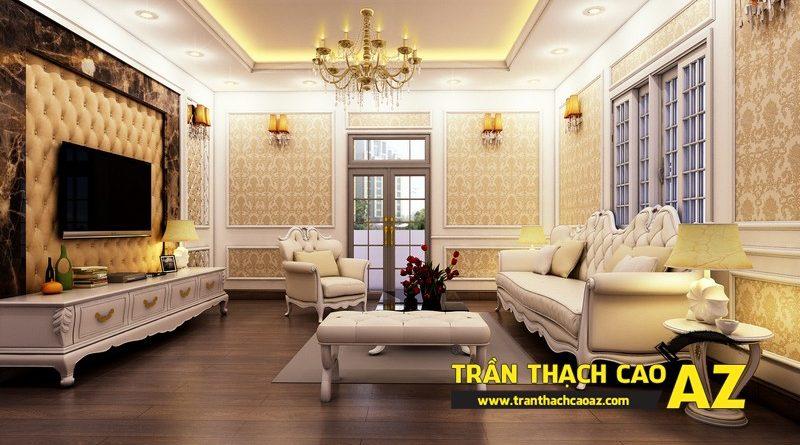 Ngây ngất với thiết kế trần thạch cao biệt thự đẹp hút mắt của gia đình anh Tài, KĐT Định Công