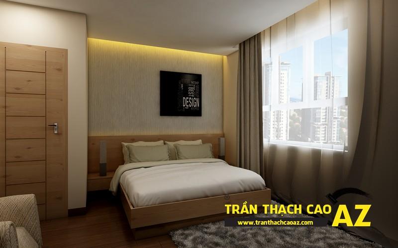Phương án thiết kế trần thạch cao phòng ngủ vợ chồng đẹp hiện đại của gia đình anh Nam 02
