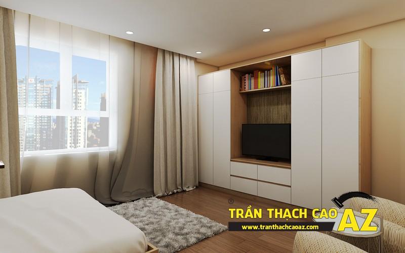 Phương án thiết kế trần thạch cao phòng ngủ vợ chồng đẹp hiện đại của gia đình anh Nam 01