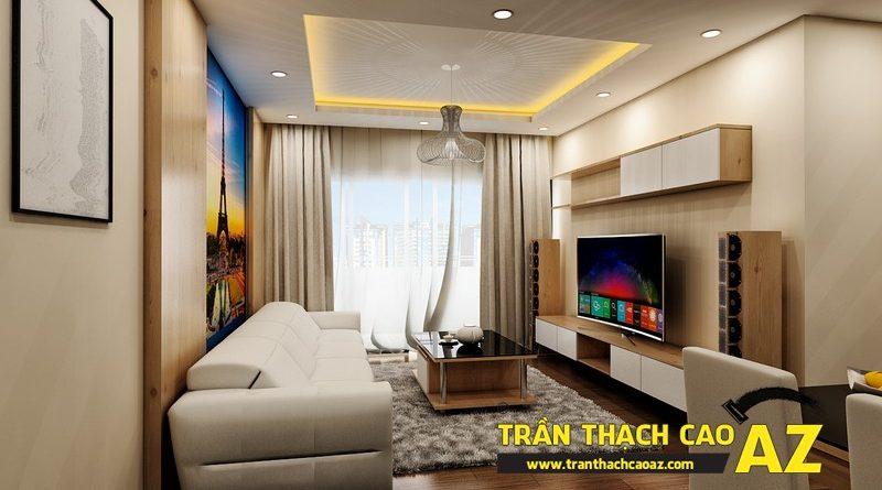 Thiết kế trần thạch cao chung cư đẹp hiện đại của gia đình anh Nam, tòa CT1, chung cư viện 103