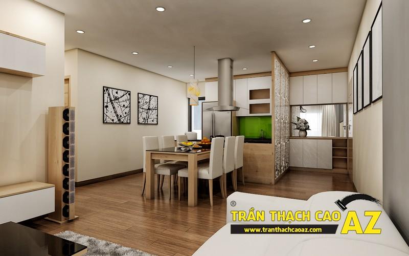Phương án thiết kế trần thạch cao phòng bếp chung cư đẹp hiện đại của gia đình anh Nam 01
