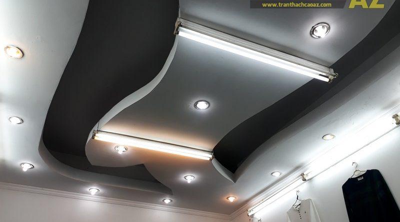 Cận cảnh thiết kế trần thạch cao đẹp cực cá tính của shop MEN's Jean, 209 Chùa Bộc