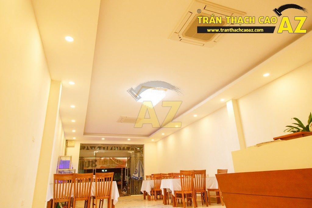 Thiết kế trần thạch cao đẹp sang trọng của nhà hàng Cá Minh Quân - 04