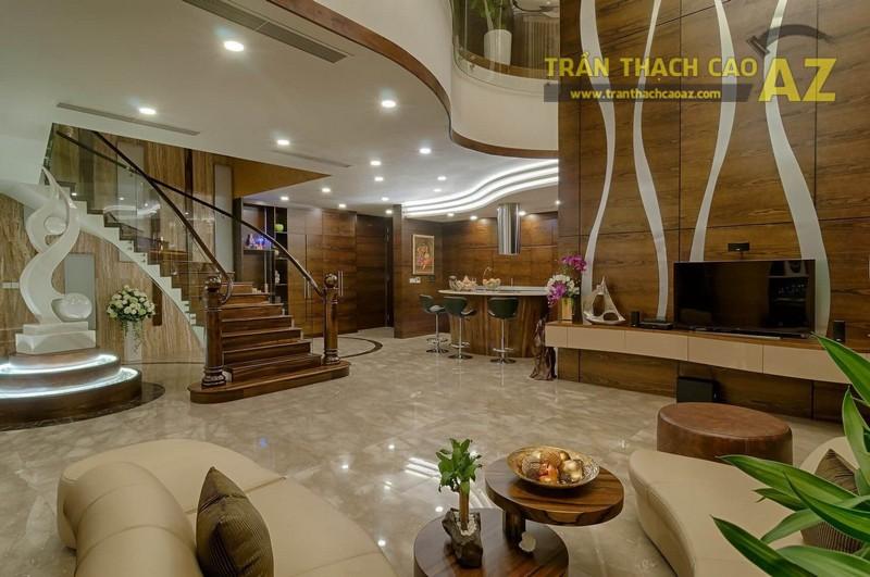 Thiết kế trần thạch cao đẹp tuyệt mỹ cho căn hộ Penhouse
