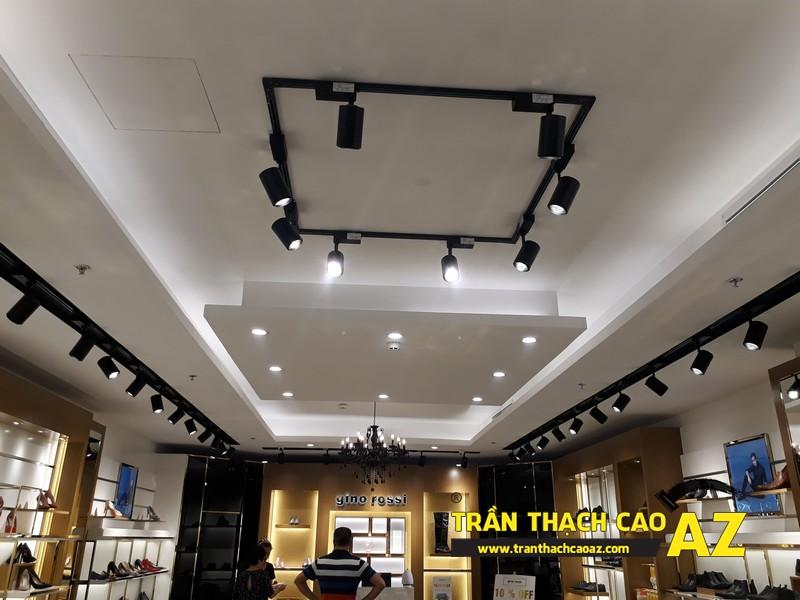 Trần thạch cao cho cửa hàng giày Gino Rossi thuộc trung tâm thương mại Royal City