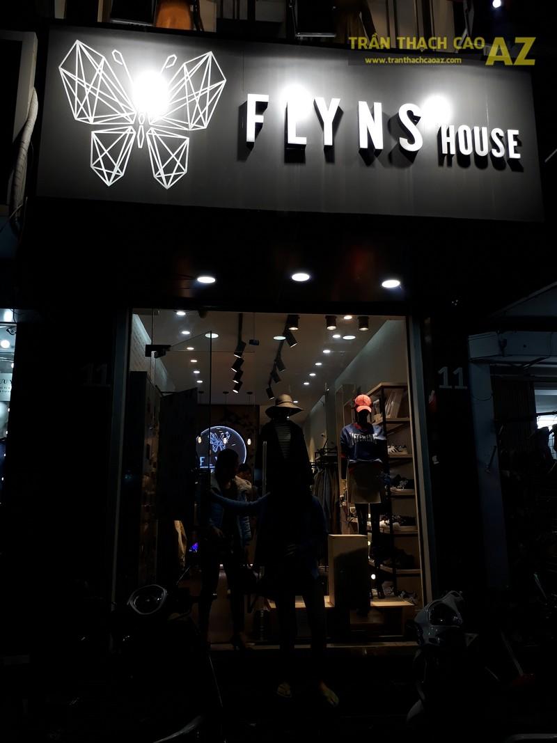 Trần thạch cao cho cửa hàng thời trang Flyns House, 11 chùa Bộc, Đống Đa, Hà Nội