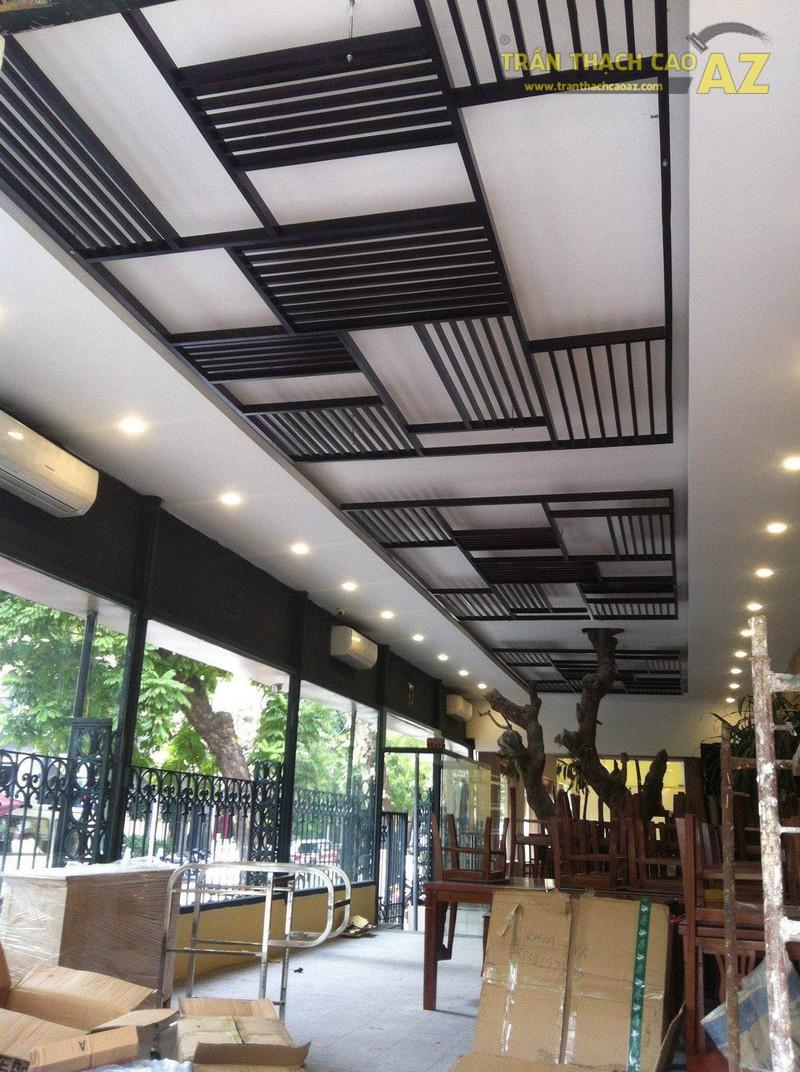 Trần thạch cao cho nhà hàng trên phố Bà Triệu, quận Hoàn Kiếm, Hà Nội 05