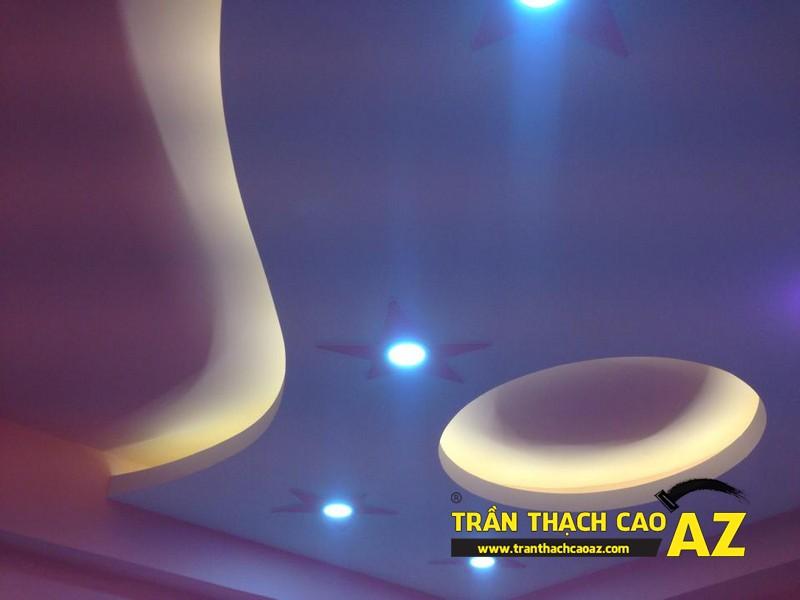 Trần thạch cao cho phòng ngủ trẻ em nhà chị Thảo tại Hào Nam, Đống Đa, Hà Nội