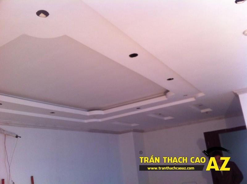 Tạo hình trần thạch cao phòng khách chung cư nhà anh Lân - 03