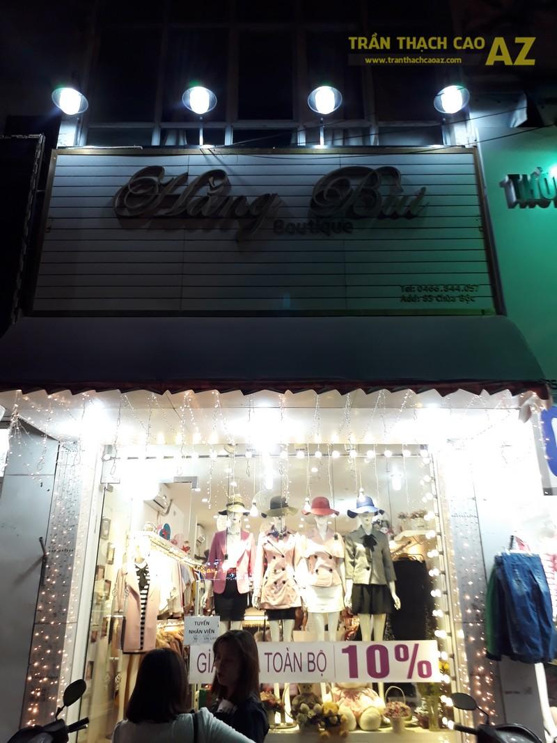 Cách trang trí trần thạch cao đẹp độc đáo của shop Hằng Bùi Boutique, số 83 Chùa Bộc - 05