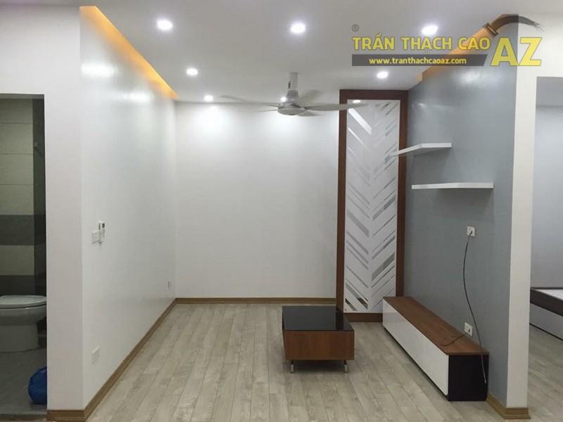 Thiết kế trần thạch cao phòng khách đẹp của gia đình anh Chiến